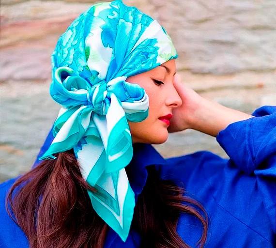 Красиво завязать платок на голове фото пошагово